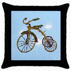 Treecycle Black Throw Pillow Case