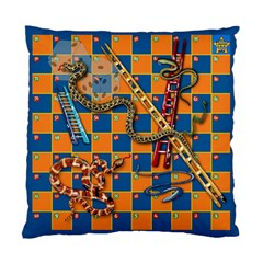 Snakes And Ladders Pillow Cushion Case (two Sided)