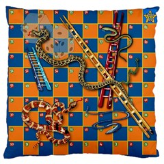 Snakes and Ladders Pillow Large Cushion Case (Two Sided)