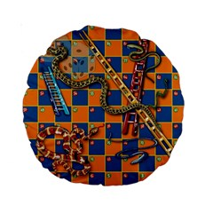 Snakes And Ladders Pillow 15  Premium Round Cushion