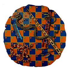Snakes and Ladders Pillow 18  Premium Round Cushion