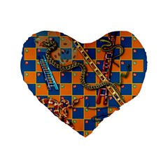 Snakes and Ladders Pillow 16  Premium Heart Shape Cushion