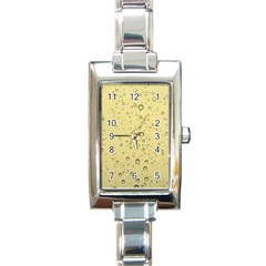 Yellow Water Droplets Rectangular Italian Charm Watch