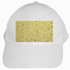 Yellow Water Droplets White Baseball Cap