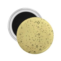 Yellow Water Droplets 2.25  Button Magnet