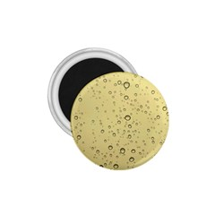 Yellow Water Droplets 1.75  Button Magnet