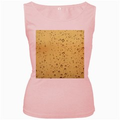 Yellow Water Droplets Women s Tank Top (pink)