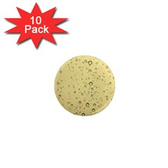 Yellow Water Droplets 1  Mini Button Magnet (10 pack)