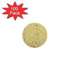 Yellow Water Droplets 1  Mini Button (100 pack)