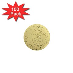 Yellow Water Droplets 1  Mini Button Magnet (100 pack)