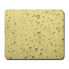 Yellow Water Droplets Large Mouse Pad (Rectangle)