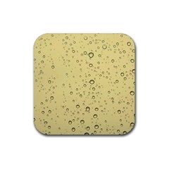 Yellow Water Droplets Drink Coaster (square)
