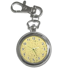 Yellow Water Droplets Key Chain Watch