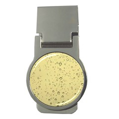 Yellow Water Droplets Money Clip (Round)