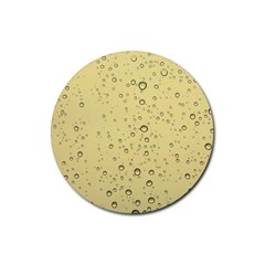 Yellow Water Droplets Drink Coasters 4 Pack (Round)