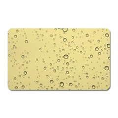 Yellow Water Droplets Magnet (Rectangular)