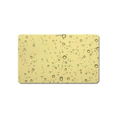 Yellow Water Droplets Magnet (Name Card)