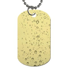 Yellow Water Droplets Dog Tag (One Sided)