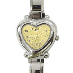 Yellow Water Droplets Heart Italian Charm Watch