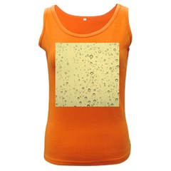 Yellow Water Droplets Women s Tank Top (dark Colored)
