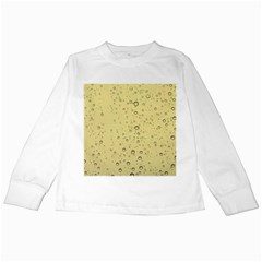 Yellow Water Droplets Kids Long Sleeve T-Shirt