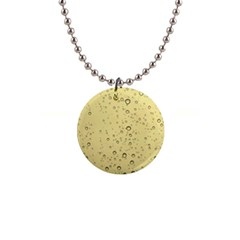 Yellow Water Droplets Button Necklace