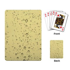 Yellow Water Droplets Playing Cards Single Design