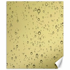 Yellow Water Droplets Canvas 8  x 10  (Unframed)