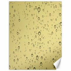 Yellow Water Droplets Canvas 12  x 16  (Unframed)