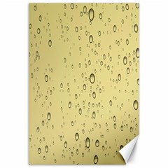Yellow Water Droplets Canvas 12  x 18  (Unframed)