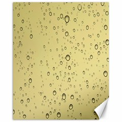Yellow Water Droplets Canvas 16  X 20  (unframed)