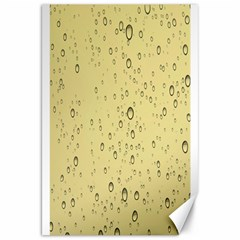 Yellow Water Droplets Canvas 20  x 30  (Unframed)