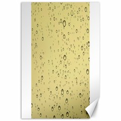 Yellow Water Droplets Canvas 24  x 36  (Unframed)