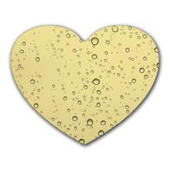 Yellow Water Droplets Mouse Pad (Heart)