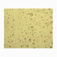 Yellow Water Droplets Glasses Cloth (Small, Two Sided)