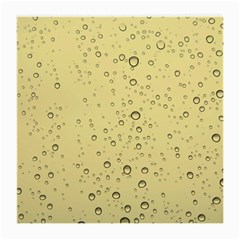 Yellow Water Droplets Glasses Cloth (medium, Two Sided)