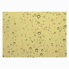 Yellow Water Droplets Glasses Cloth (Large, Two Sided)
