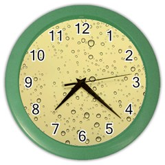 Yellow Water Droplets Wall Clock (color)