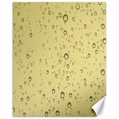 Yellow Water Droplets Canvas 11  x 14  (Unframed)