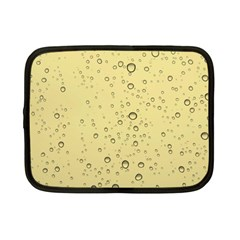 Yellow Water Droplets Netbook Sleeve (Small)