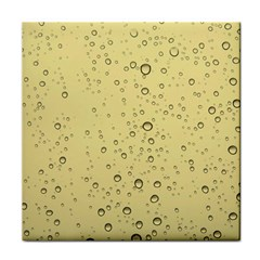 Yellow Water Droplets Face Towel