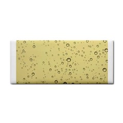 Yellow Water Droplets Hand Towel