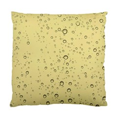 Yellow Water Droplets Cushion Case (Single Sided)