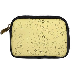 Yellow Water Droplets Digital Camera Leather Case