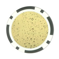Yellow Water Droplets Poker Chip (10 Pack)