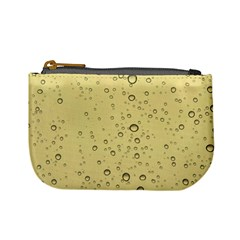 Yellow Water Droplets Coin Change Purse