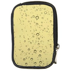 Yellow Water Droplets Compact Camera Leather Case