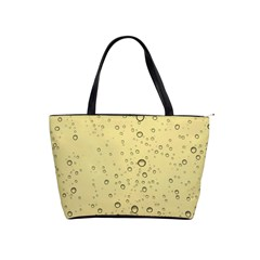 Yellow Water Droplets Large Shoulder Bag