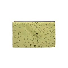 Yellow Water Droplets Cosmetic Bag (small)