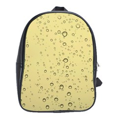 Yellow Water Droplets School Bag (large)